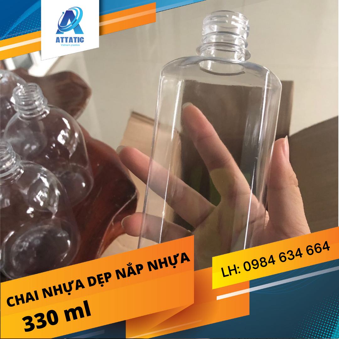 Chai Nhựa Dẹt Nắp Nhựa Tại Đà Nẵng