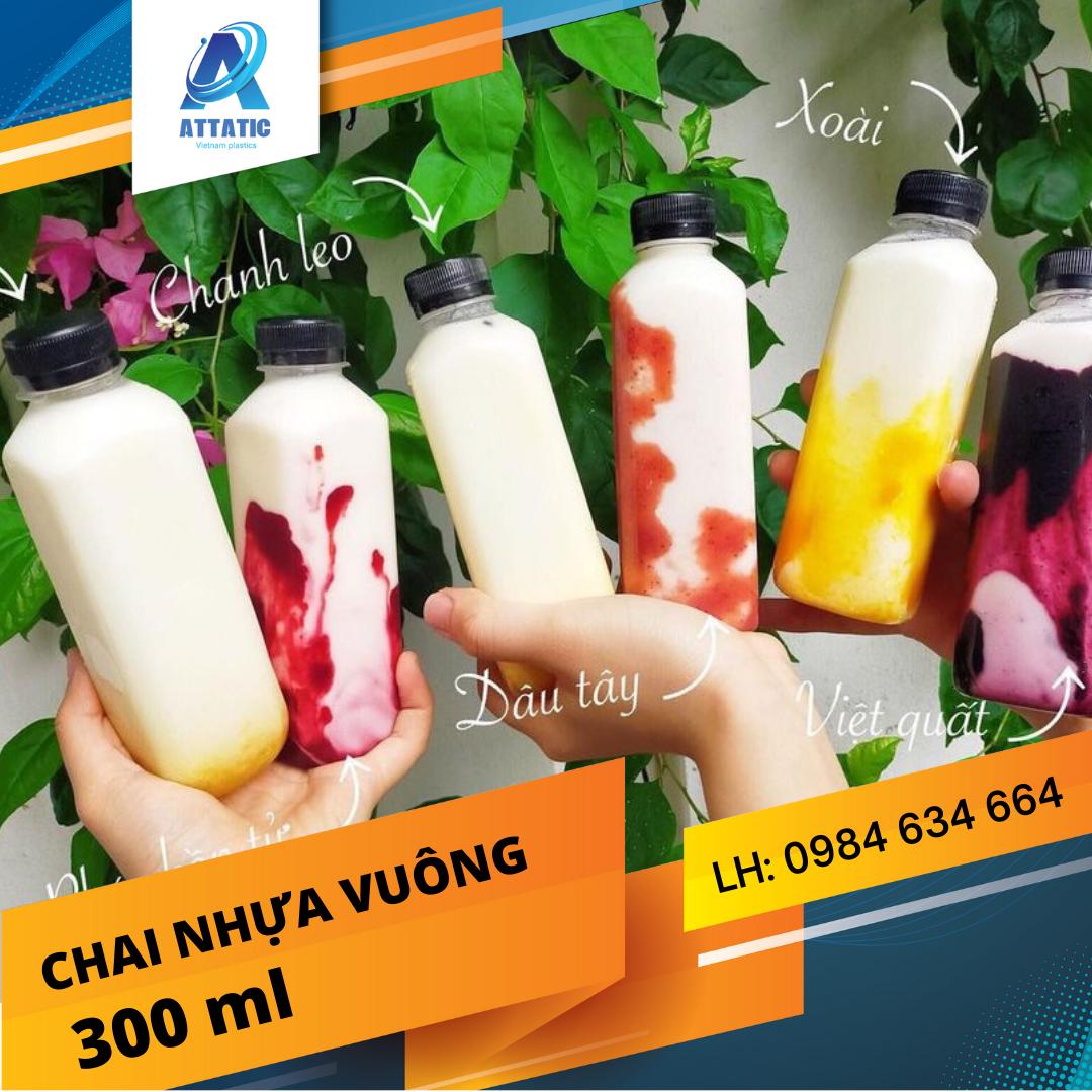 Chai Nhựa Vuông 300ML Tại Đà Nẵng